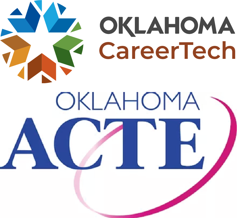 Oklahoma CareerTech and Oklahoma ACTE Logos stacked (transparent background)