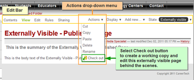 ct united working copy edit bar actions drop down check out crop