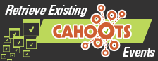 Retrieve existing Cahoots events
