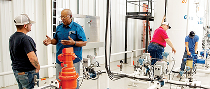 Central Technology Center's oil and gas pipeline and storage training facility opened in 2011.