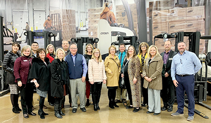 Oklahoma CareerTech leaders visited Ohio, including the Delaware Area Career Center.