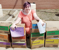 Jessica Ruckel used skills she developed as president of Autry Tech's SkillsUSA chapter to lead her Girl Scout troop to donate boxes of Girl Scout cookies to medical, school and supermarket staff members.