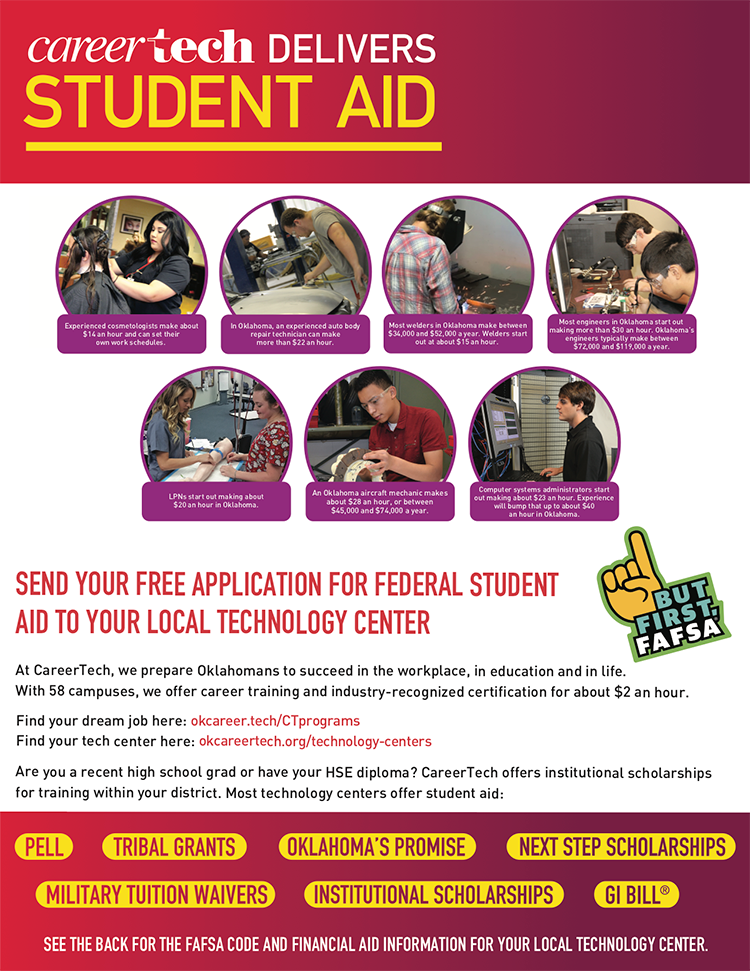 CareerTech Delivers Student Aid - Flier (page one)
