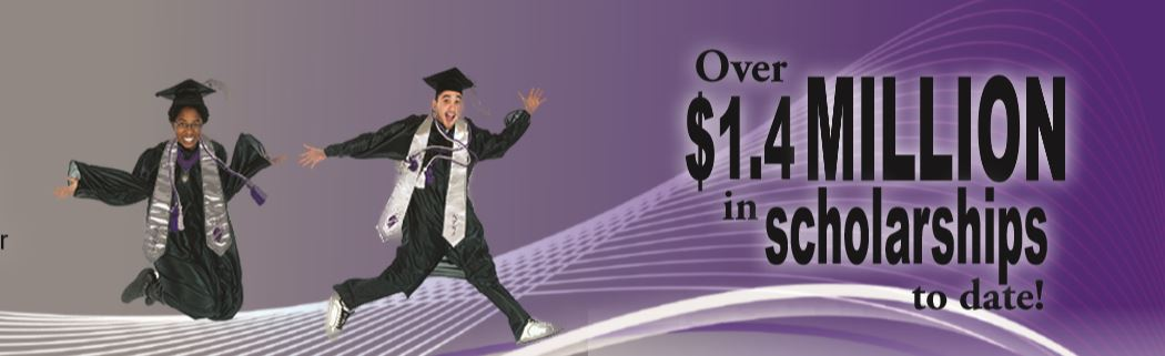 graduates jumping - scholarships