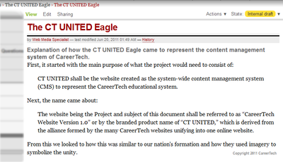 ct united add new page view logged in