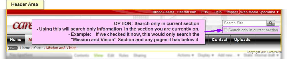Easily narrow your search in the area you are currently viewing by selecting the checkbox.